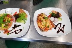 Kleine Speisen im Cafe